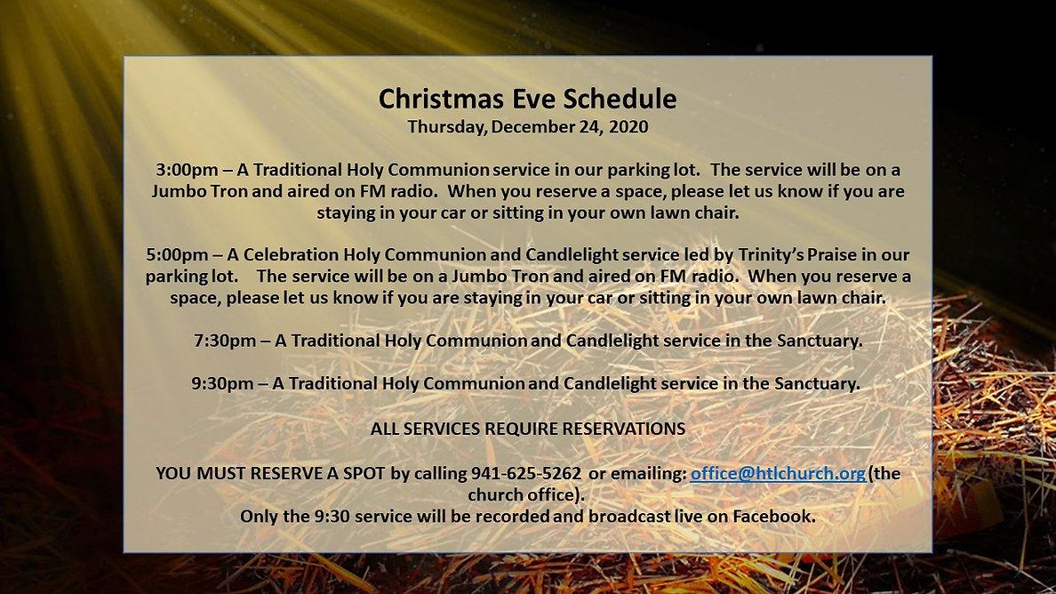 Christmas Eve Thursday, December 24, 202