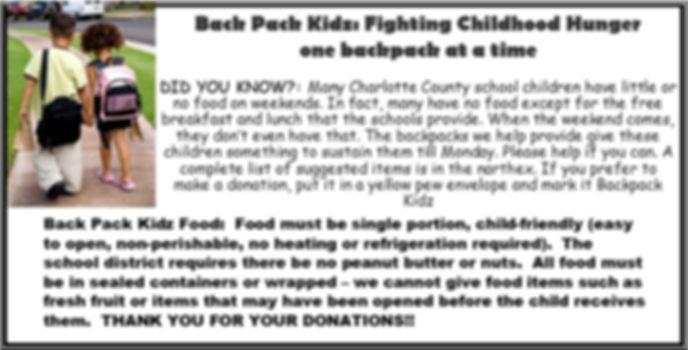 Back Pack Kidz Fighting Childhood Hunger