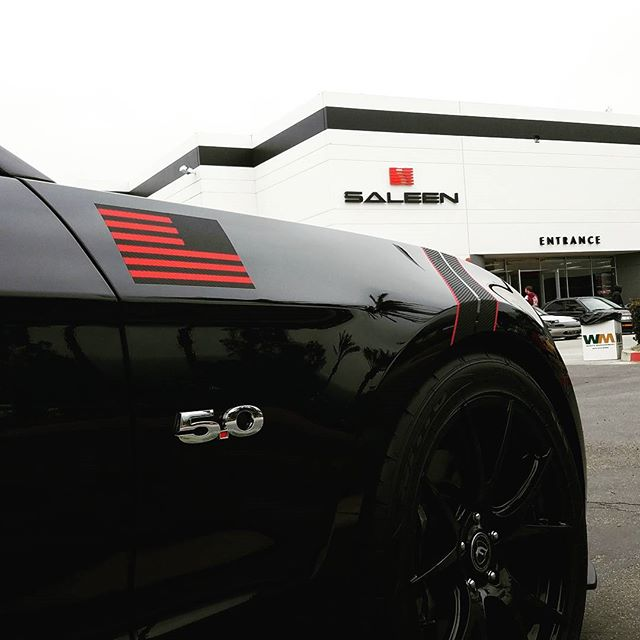 Featuring VP _shadow_s197 and his Coyote at this mornings #coronacarsandcoffee at Saleen Motorsports