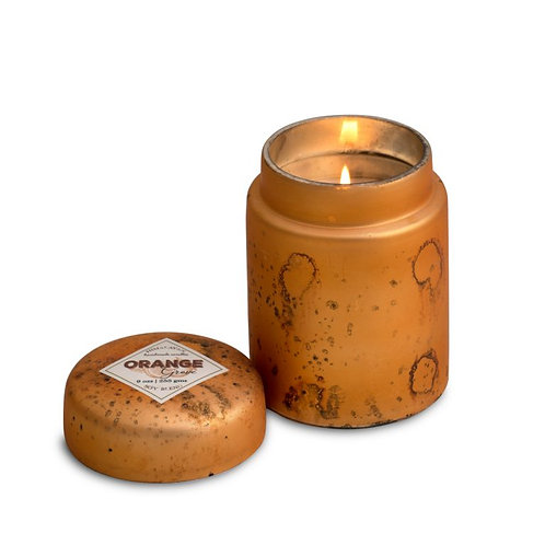 Orange Grove -Mountain Fire Glass- 9oz  soy candle