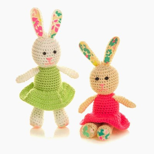 Little Crocheted Bunny Sisters