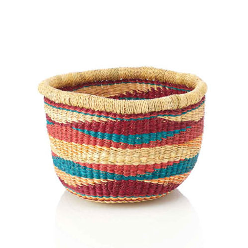 Sunset Mini Basket. Made in Ghana. Fair Trade