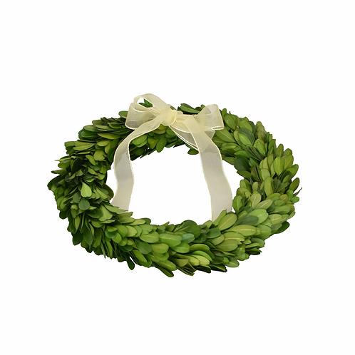 "8"" Preserved Boxwood Wreath - Set of 3"
