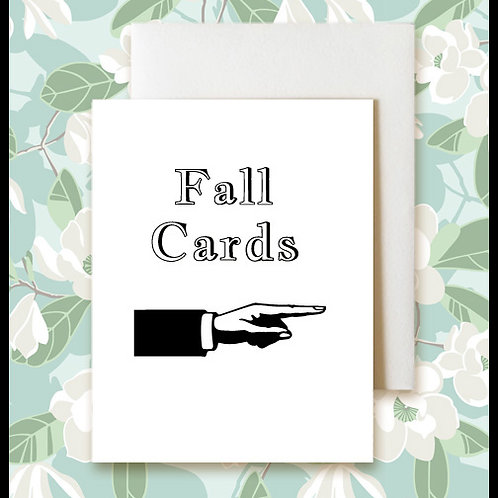 Fall Greeting Cards   $4.50-