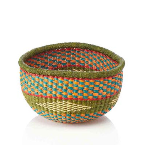 Round Tembe Basket. Made in Ghana. Fair Trade