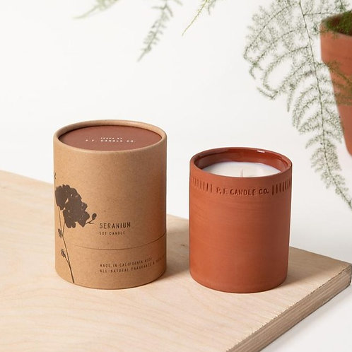 P. F. Candle Co. - Terra Candle- Geranium- 8oz