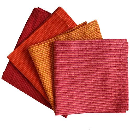 "Fair trade Cotton Cocktail napkins 9""x9"""