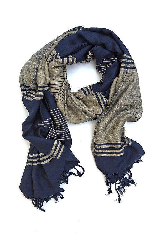 Sundus Scarf - Navy. fair trade.handmade in Egypt