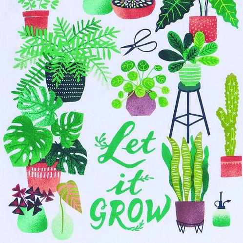 Let it Grow- cotton tea towel