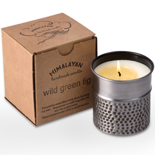 Thimble Cup Soy Candle- Wild Green Fig