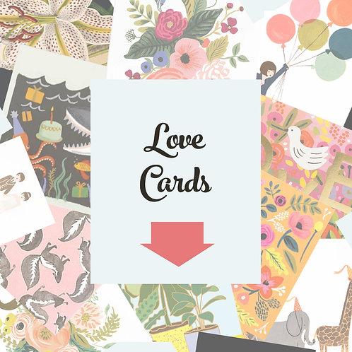 Love & Friendship Cards  $4.50-
