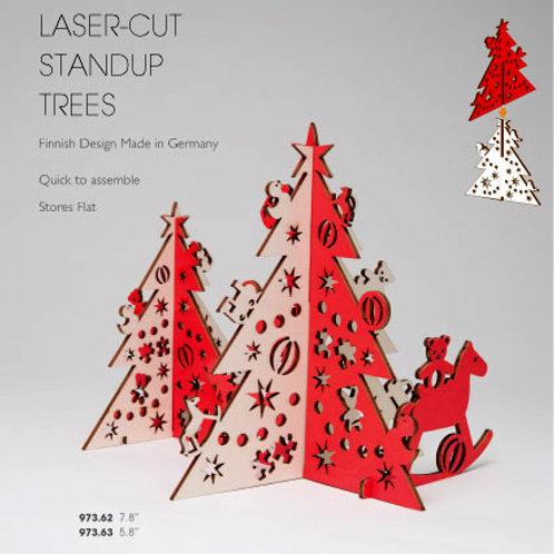 Laser-Cut Standup Trees