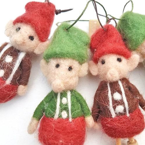 Felt Elf Christmas Ornament