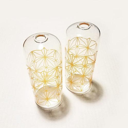 Modern Geometric Pattern Bud Vase