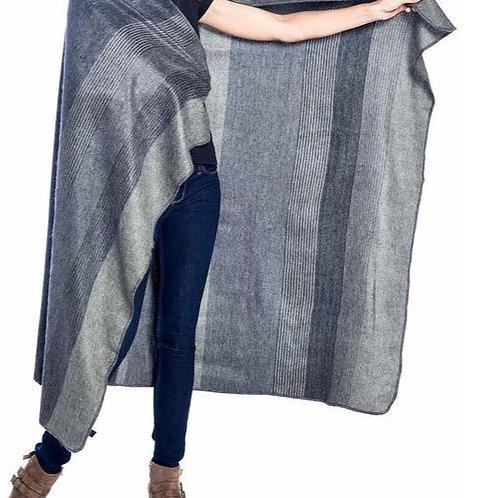 Alpaca Throw Blanket -Charcoal
