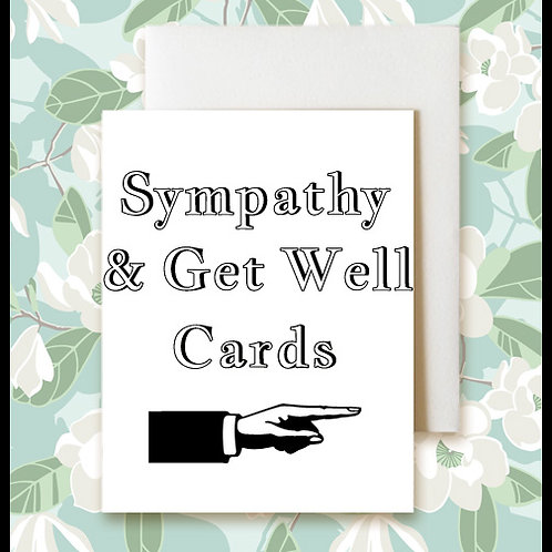 Blank Sympathy And Get Well Cards   $4.50-