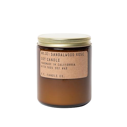 Sandalwood Rose - 7.2 oz  Soy Candle