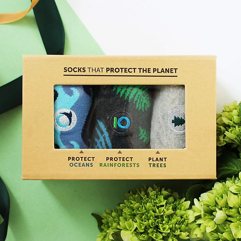 Socks That Protect The Planet Gift Box of 3