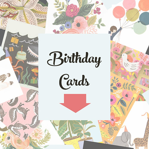 Happy Birthday Blank Cards     $4.50-