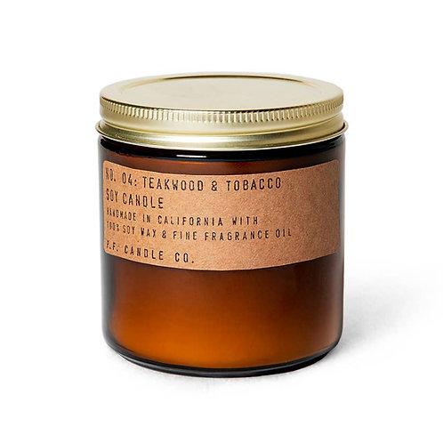 P.F. Candle Co. -Teakwood & Tobacco - 12.5 oz Large Soy Candle
