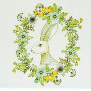 Spring Hop Printed Dishtowel