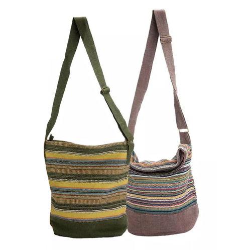 Striped Gheri Bucket Bag- Made in Nepal
