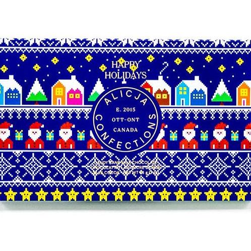 Happy Holidays Milk Postcard Chocolate Bar