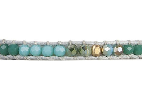 Alani - Adjustable Crystal Single Wrap Bracelet