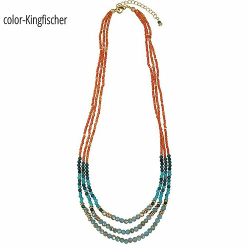 Maia  - Multi strand layered Necklace. Available in 3 colors.