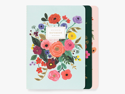 Garden Party Stitched Notebook set of 3