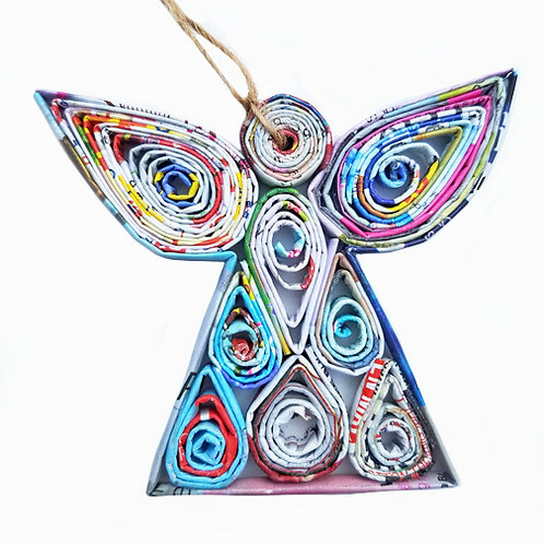 Recycled Paper Angle Ornament