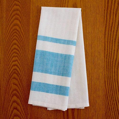Handmade, fair trade, cotton tea towel in lavender or azure