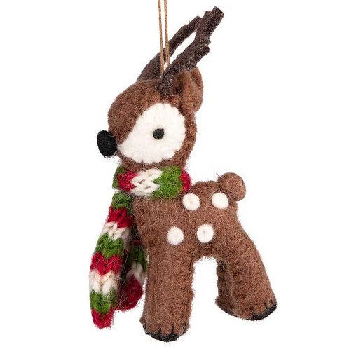 Cuddly Reindeer Ornament