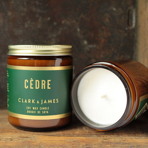 Clark & James  7.2 oz Soy Candle