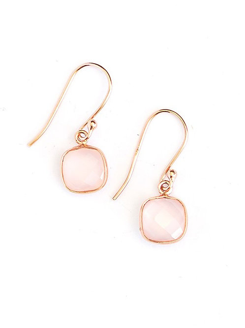 Daybreak Rose Gold Earrings. fair trade. handmade in India