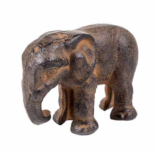 Small cast iron elephant
