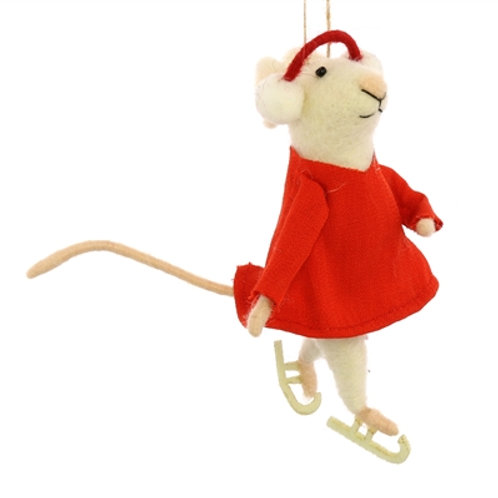 Figure Skating Mouse Ornament