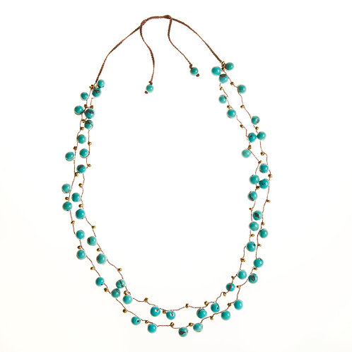 Acai Berry Necklace in Red or Blue