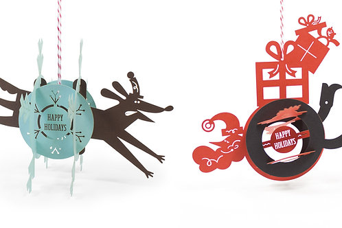3D Paper  Christmas Card Ornament