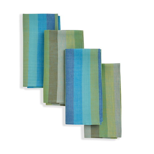 RAINFALL Cloth Napkin (set of 4). Soft Cotton