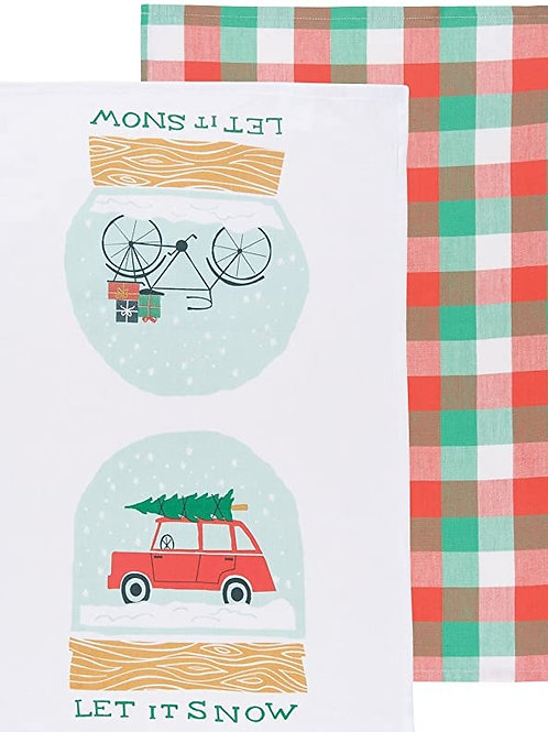 Let It Snow Dishtowel set