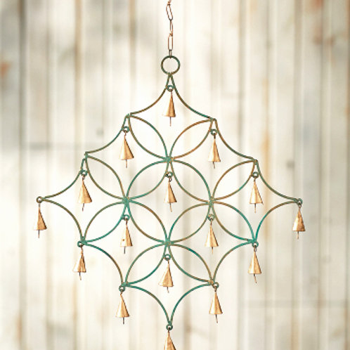 Minted Garden Wind Chime. Made in India. Fair Trade
