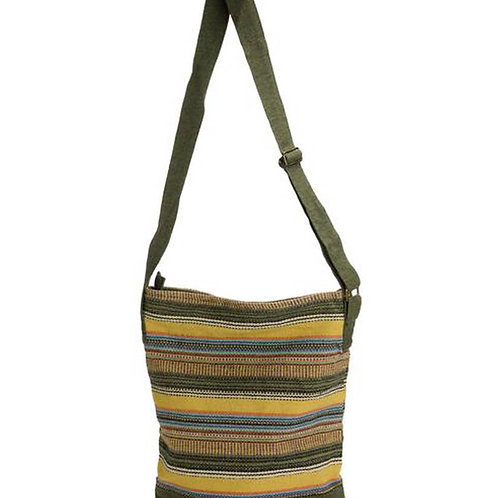 Striped Gheri Bucket Bag- Made in Nepal