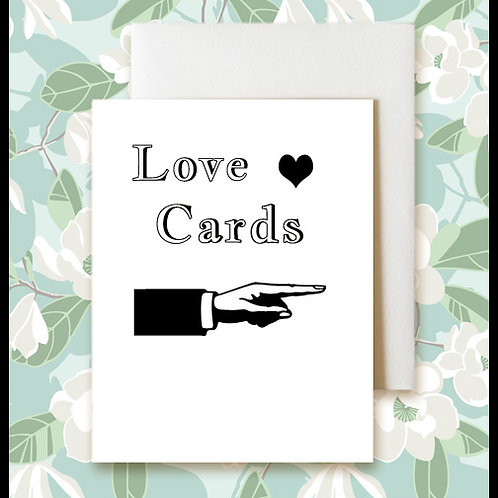 Blank Love Greeting Cards  $4.50-