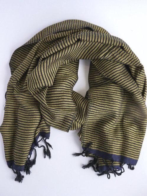 Maha Striped Scarf. fair trade. handmade in Egypt