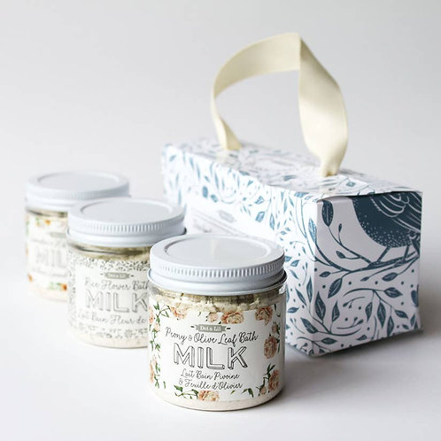Dot & Lil- milk bath trio gift set