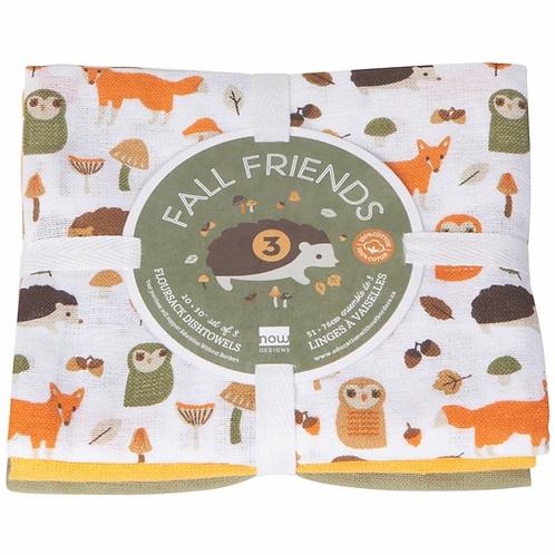 Fall Friends 3 towel set