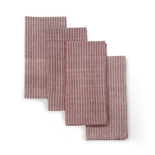 Pin-stripe, Handwoven, Fair Trade, Cotton Napkins