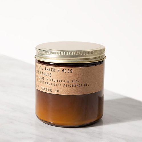 P. F. Candle Co. - Amber & Moss  12.5 oz  Soy Candle