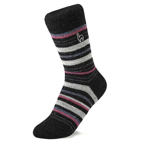 Alpaca Socks - Stripe- Sz M. Available in 2 colors
